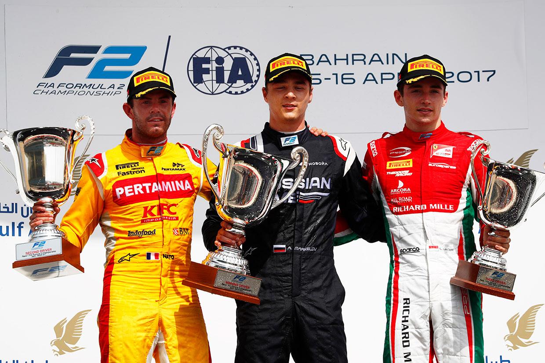 【順位結果】FIA F2第1戦バーレーン 決勝レース1