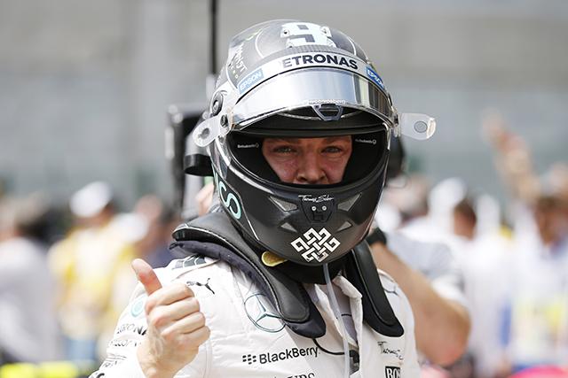 F1 | ロズベルグが5戦連続PP、ハミルトンを僅差で下す