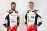 トヨタ・ヤリスWRCの3台目のドライバー/コ・ドライバーに決まったエサペッカ・ラッピ(右)とヤンネ・フェルム(左)