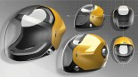 ヘルメットもドライバーの表情が確認できるデザインに