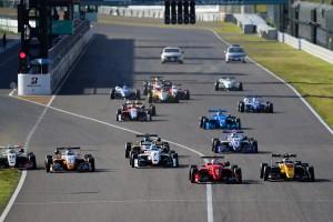 全日本F3選手権第5戦のスタートシーン