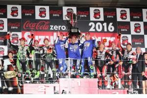 2016鈴鹿8時間耐久ロードレース表彰式の様子