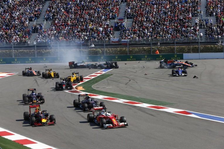 F1 | F1ロシアGPに備えターン2にショートカット防止策。スピードバンプが設置