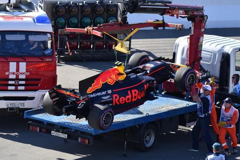 F1 | フェルスタッペン「トラブルでロングランができず。今回はトップ2には届かない」レッドブル F1ロシア金曜