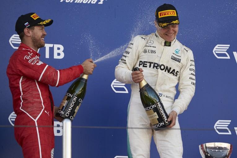 F1 | ベッテル「今日はボッタスに完敗。スタートもペースも素晴らしかった」:フェラーリ F1ロシアGP日曜