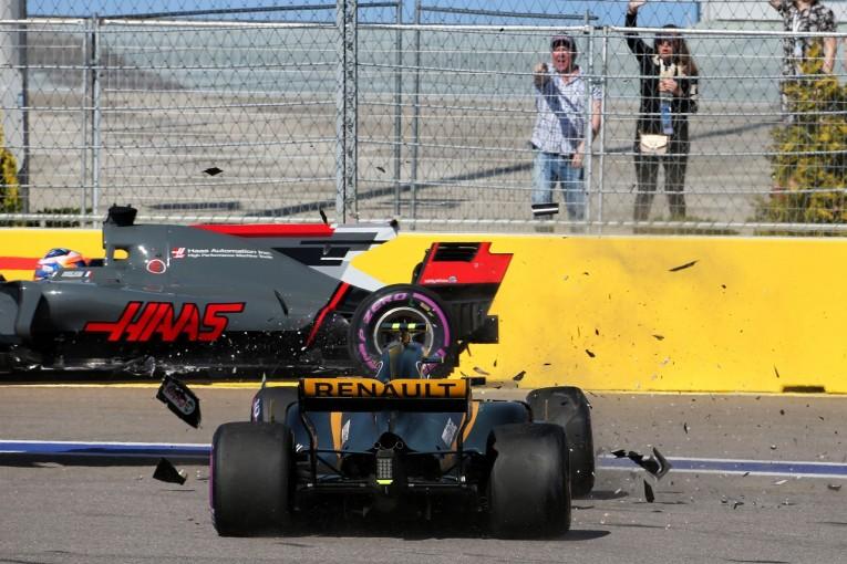 F1 | グロージャン「パーマーがなぜ被せてきたのか理解できない」:ハース F1ロシアGP日曜