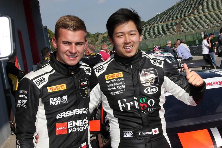 海外レース他 | 今季もイタリアGTに挑む笠井崇志。開幕戦イモラでまずは3位表彰台