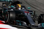 F1第5戦スペインGPフリー走行1回目でトップタイムのハミルトン