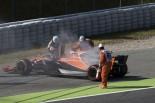 2017年F1第5戦スペインGP金曜FP1 フェルナンド・アロンソ(マクラーレン・ホンダ)がパワーユニットトラブルでストップ