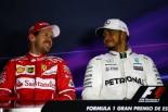 F1スペインGP PPを獲得したルイス・ハミルトンとよせん2番手のセバスチャン・ベッテル
