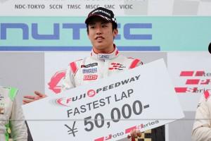 ファステストラップを獲得したのは、F3とダブルエントリーとなった坪井翔