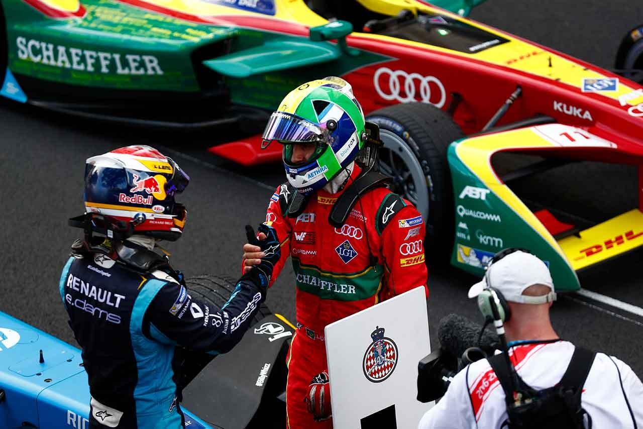 フォーミュラE:第5戦モナコ、最終ラップにディ・グラッシ猛追も0.3秒届かず。ブエミ4勝目