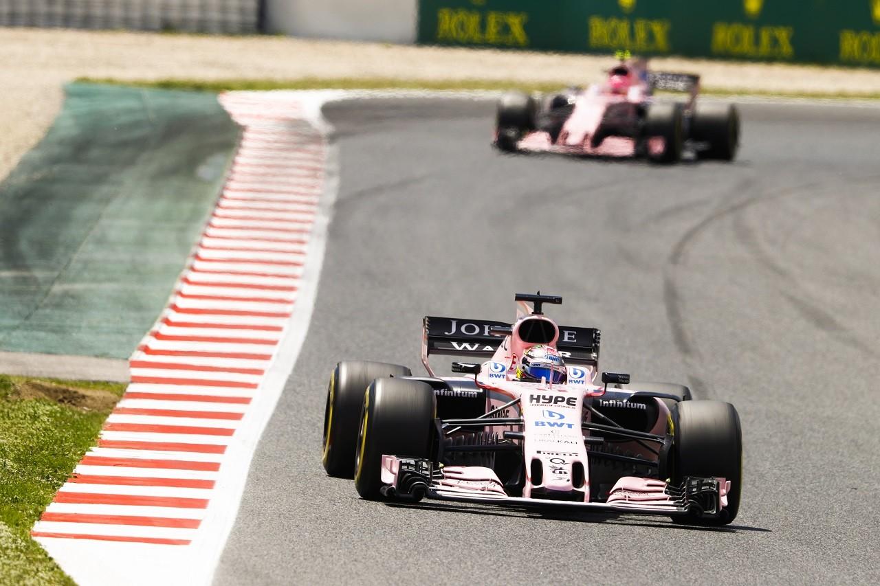 2017年F1第5戦スペインGP セルジオ・ペレスとエステバン・オコン(フォース・インディア)