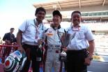 海外レース他   GP3開幕戦で独走優勝の福住「一番嬉しかったのは『君が代』が流れたこと」