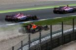 2017年F1スペインGP決勝 スタート直後、コースオフしたフェルナンド・アロンソ(マクラーレン・ホンダ)