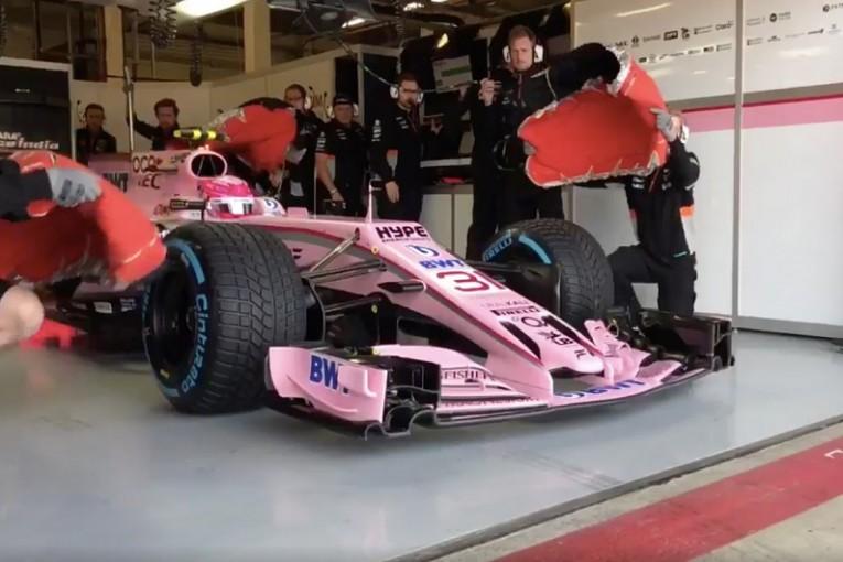 F1 | フォース・インディアF1、違反のカーナンバー表示を修正し走行「スポンサーを重視したい」と新規則に不満も