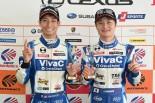 2017年のスーパーGT第3戦オートポリスでGT300クラスポールポジションを獲得した松井孝允と山下健太(VivaC 86 MC)