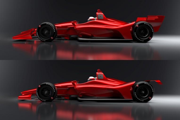 海外レース他   インディカー、オーバル用・ロード用の2018年型新エアロキットを公開