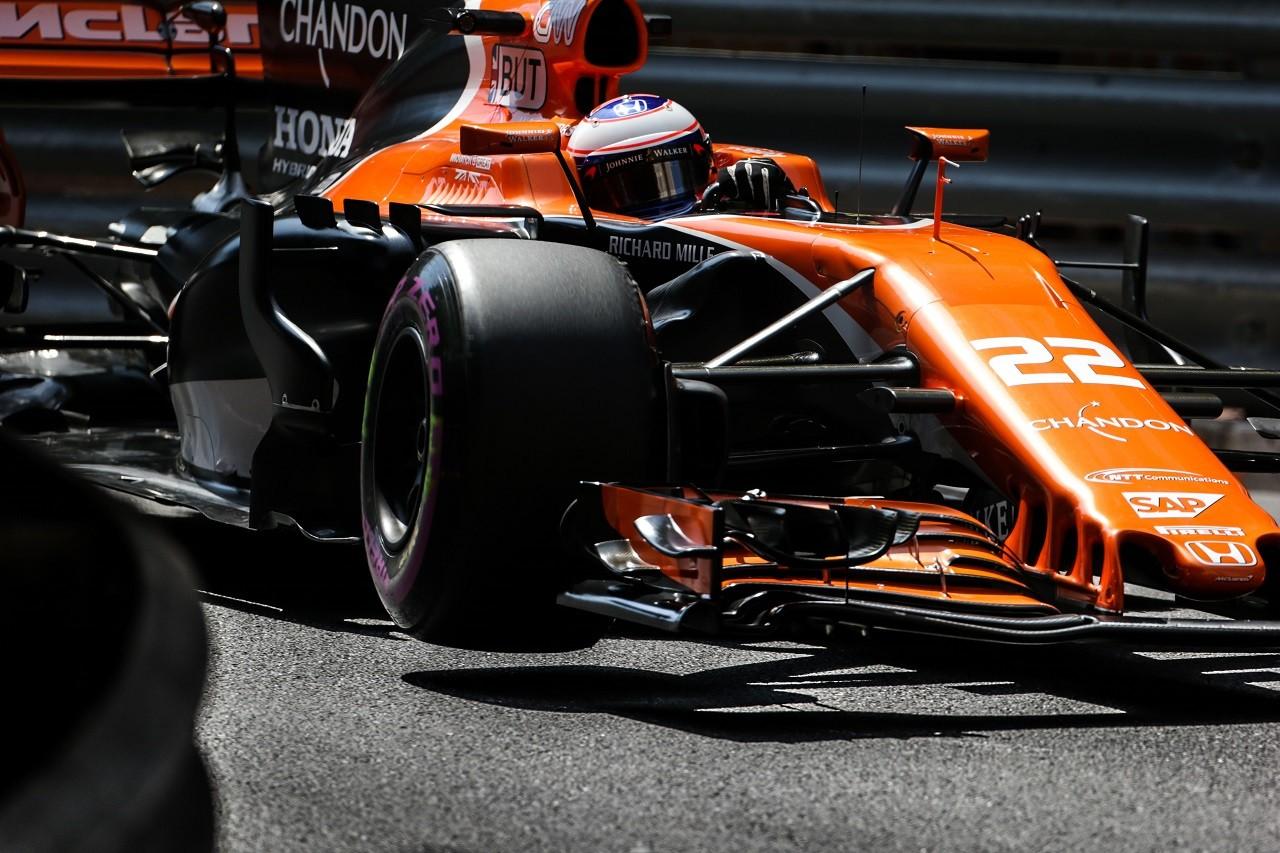 2017年F1第6戦モナコGP ジェンソン・バトン(マクラーレン・ホンダ)