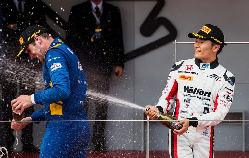 海外レース他 | FIA F2モナコ決勝1:松下信治が安定した走りで3位表彰台を獲得、優勝はオリバー・ローランド