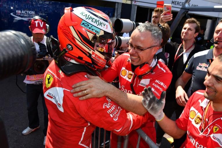 F1 | ポールのライコネン「目標の半分は達成。すべての要素をクリアし、今季初優勝をつかみたい」フェラーリF1
