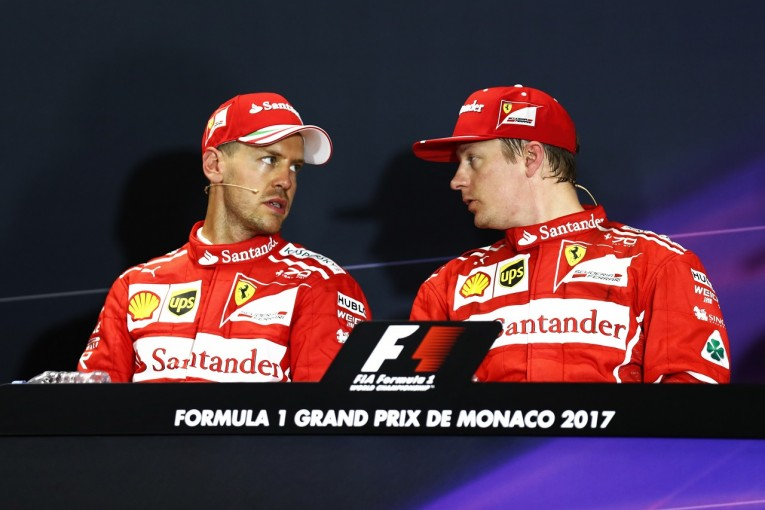 F1 | ベッテル2位「欲張りすぎてポールを逃した。悔しいけど負けた相手がキミでよかった」フェラーリ F1モナコ