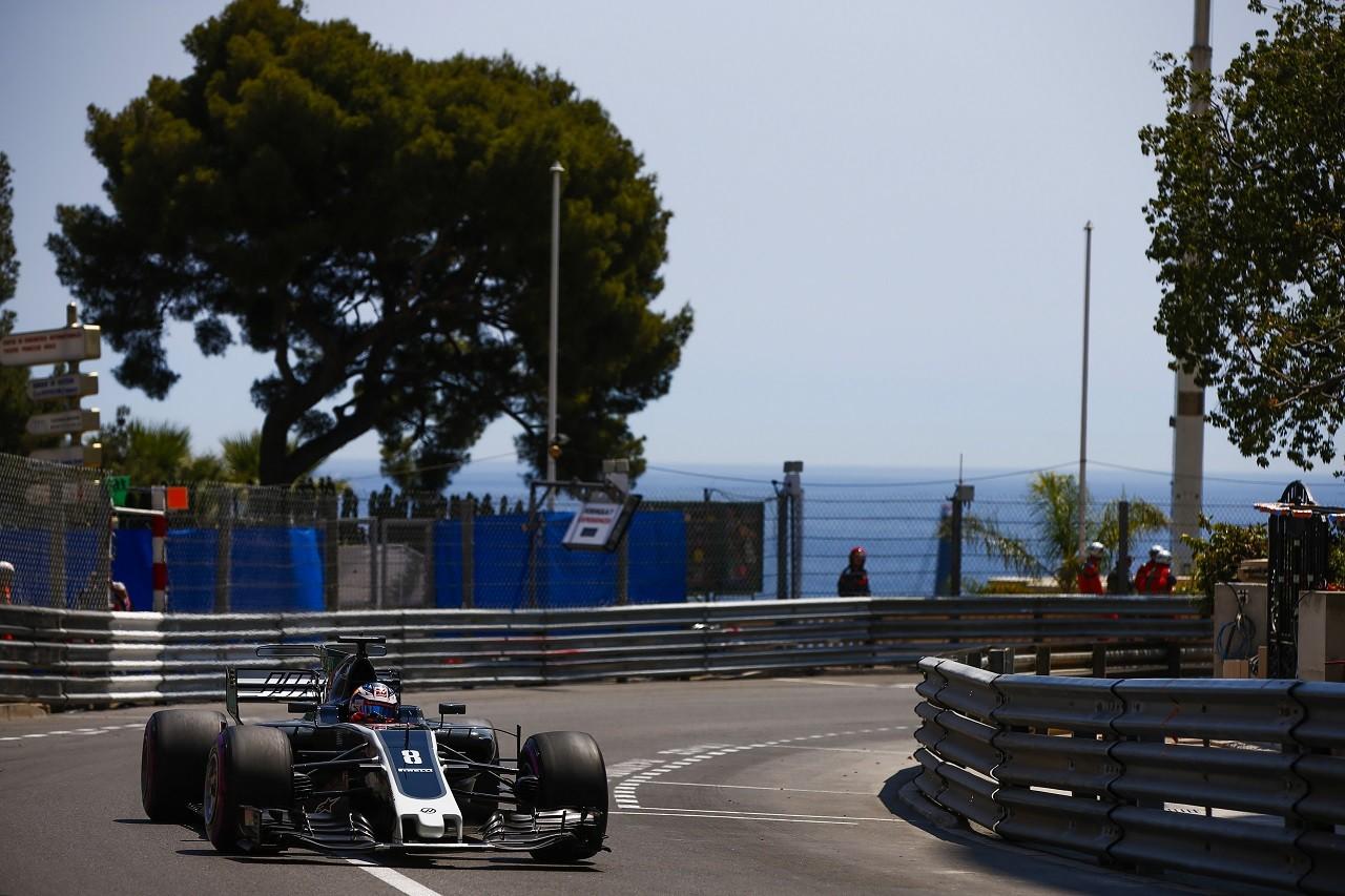 2017年F1第6戦モナコGP ロマン・グロージャン(ハース)