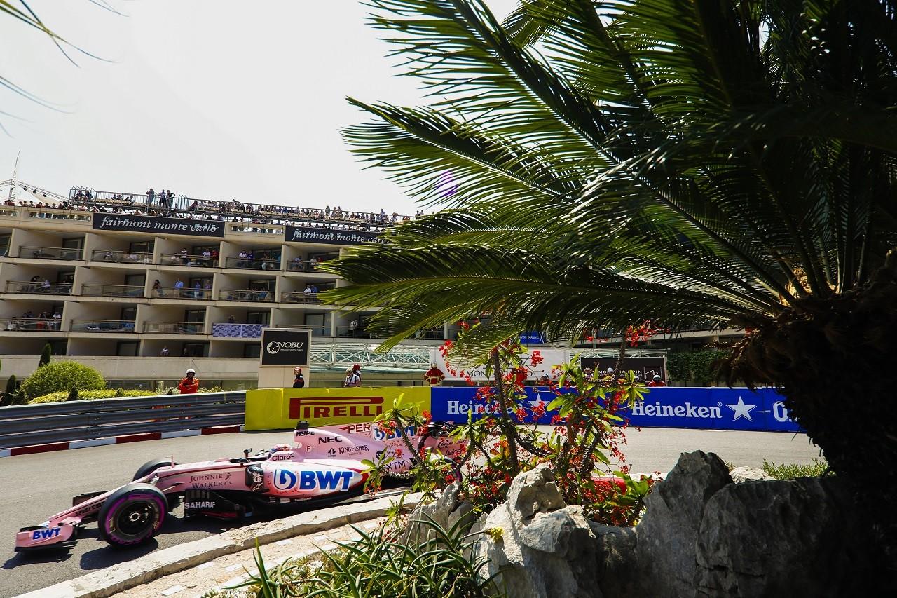 2017年F1第6戦モナコGP セルジオ・ペレス(フォース・インディア)