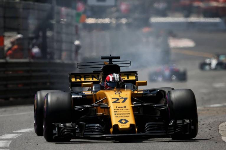 F1   ヒュルケンベルグ「ポイント獲得は可能だったが、突然ギヤボックストラブルに」:ルノー F1モナコ日曜