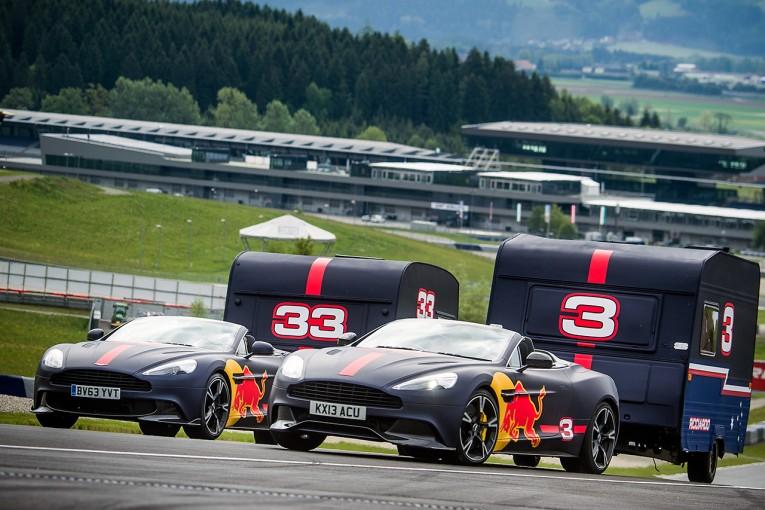 F1   【動画】爆笑必至! レッドブルF1のふたりがキャンピングカーを牽引して勝負