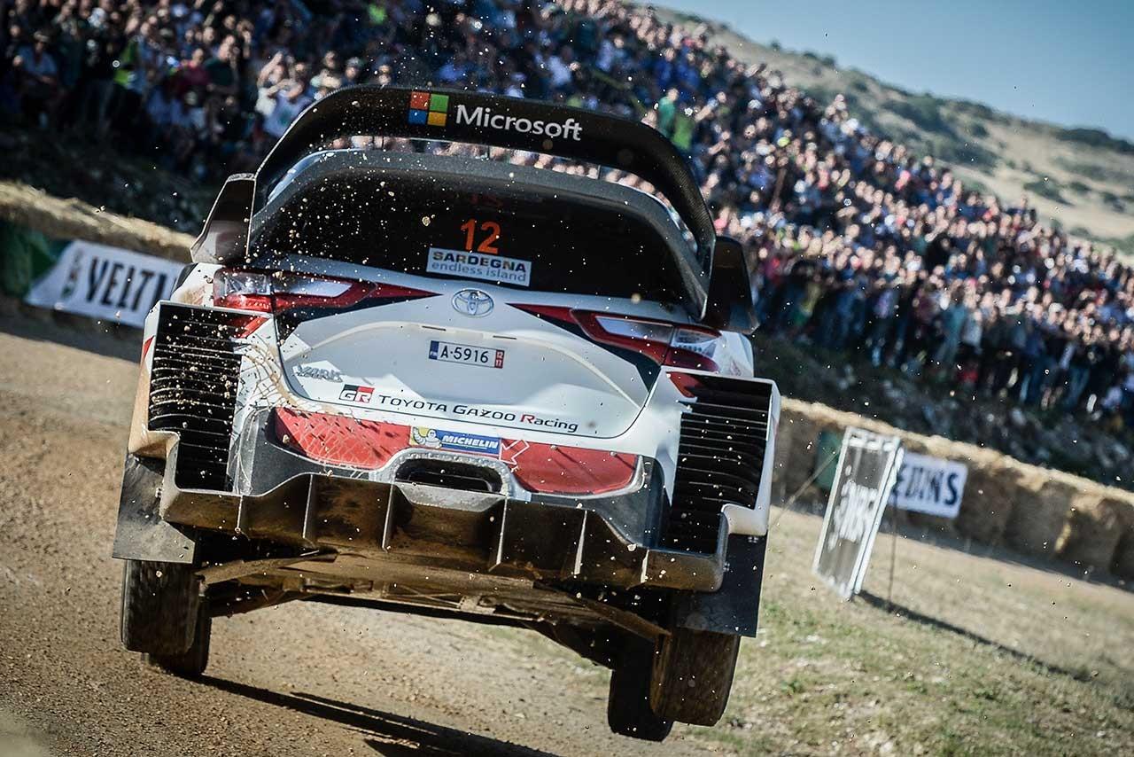 WRCイタリア:SS1はヒュンダイとMスポーツが上位分け合う。トヨタ勢は11番手最上位