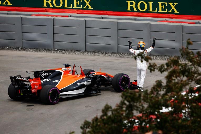 F1 | F1カナダGP フリー走行1:アロンソがマシントラブルでストップ、トップタイムはハミルトン