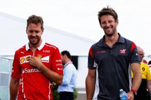 F1カナダGP セバスチャン・ベッテル、ロマン・グロージャン