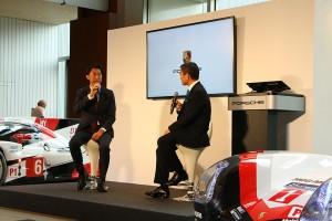 Gazoo Racingカンパニーの北沢重久氏とポルシェジャパンの七五三木敏幸社長によるトークセッション