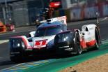 ル・マン24時間のフリープラクティスで最速タイムをマークした1号車ポルシェ919ハイブリッド