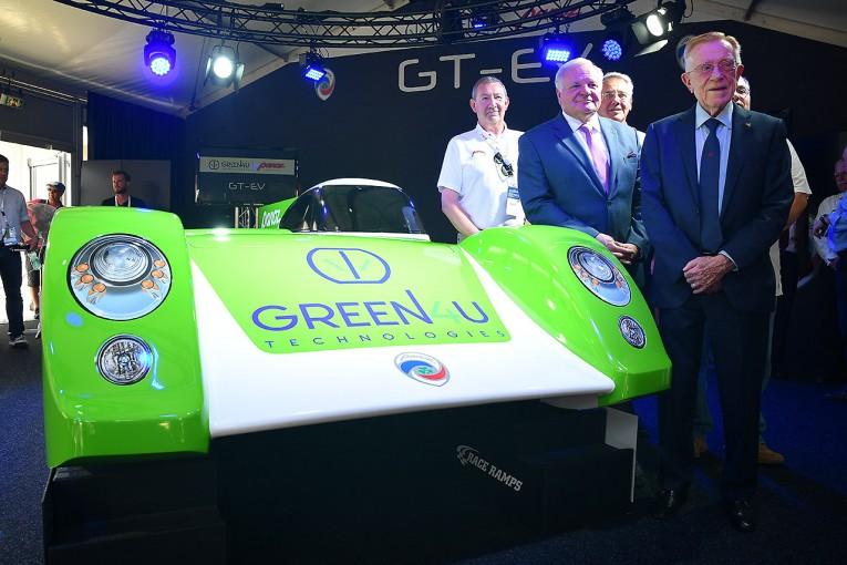 ル・マン/WEC | パノスが電気GTカー『GT-EV』を発表。将来のル・マン24時間ガレージ56参戦を目指す