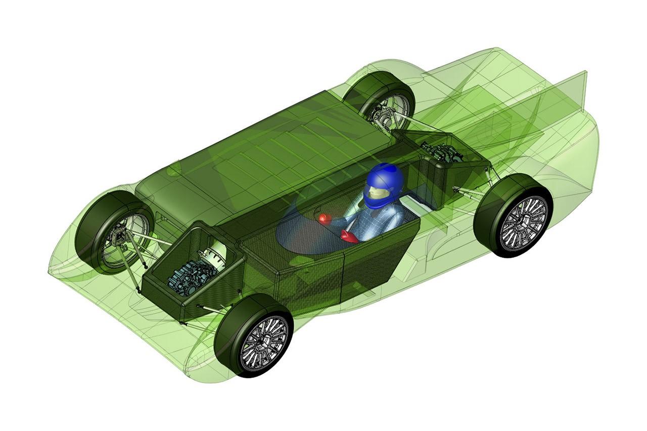 パノスが電気GTカー『GT-EV』を発表。将来のル・マン24時間ガレージ56参戦を目指す