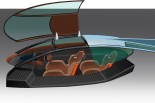 """パノスGT-EVの""""市販バージョン""""のコクピットイメージ。前後ながら、ふたり乗りのスポーツカーコンセプトを満たす。"""