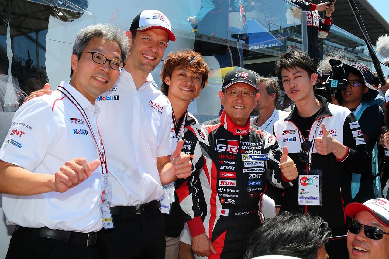 トヨタ自動車豊田章男社長がル・マン24時間を訪問。ACO会長やポルシェ会長と走行