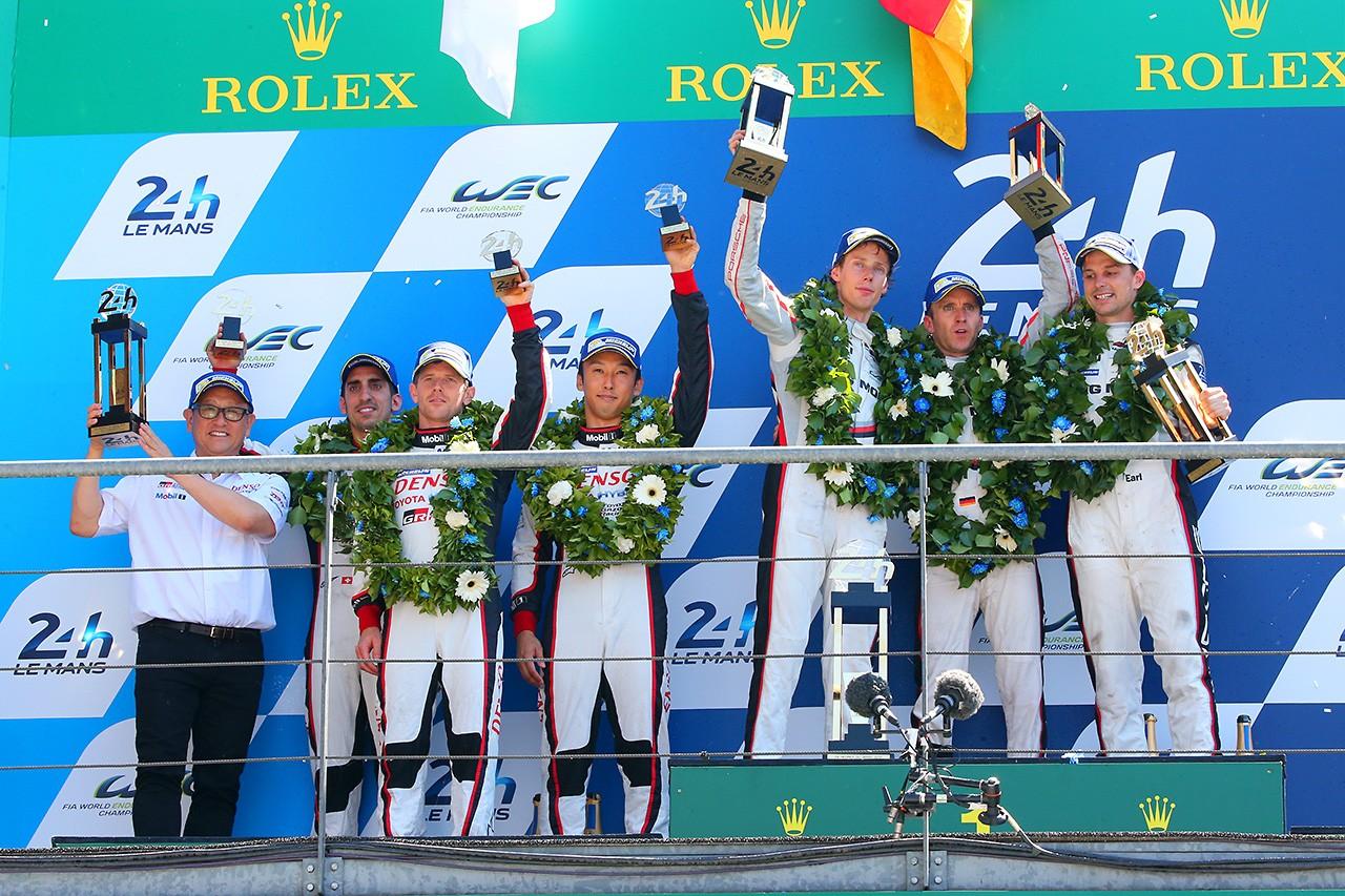 ル・マン24時間はポルシェ2号車が逆転優勝! 3連覇で19回目の勝利を飾る。トヨタは8位フィニッシュ