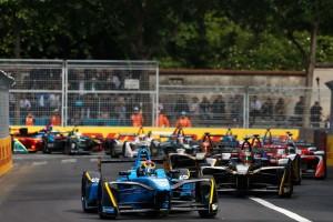 2016/17フォーミュラE第6戦パリePrix スタートシーン