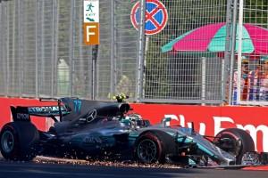 2017年F1第8戦アゼルバイジャンGP バルテリ・ボッタスが2位表彰台