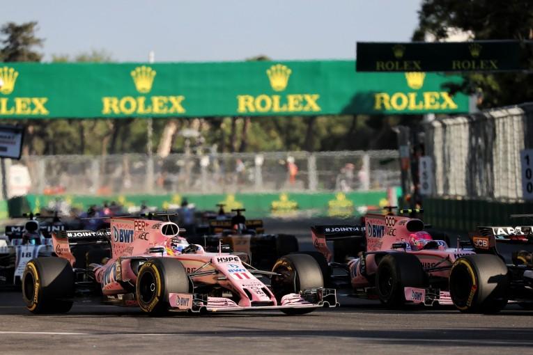 F1 | オコン「チームメイト同士の接触で大きな代価を支払った」フォース・インディア F1アゼルバイジャン日曜