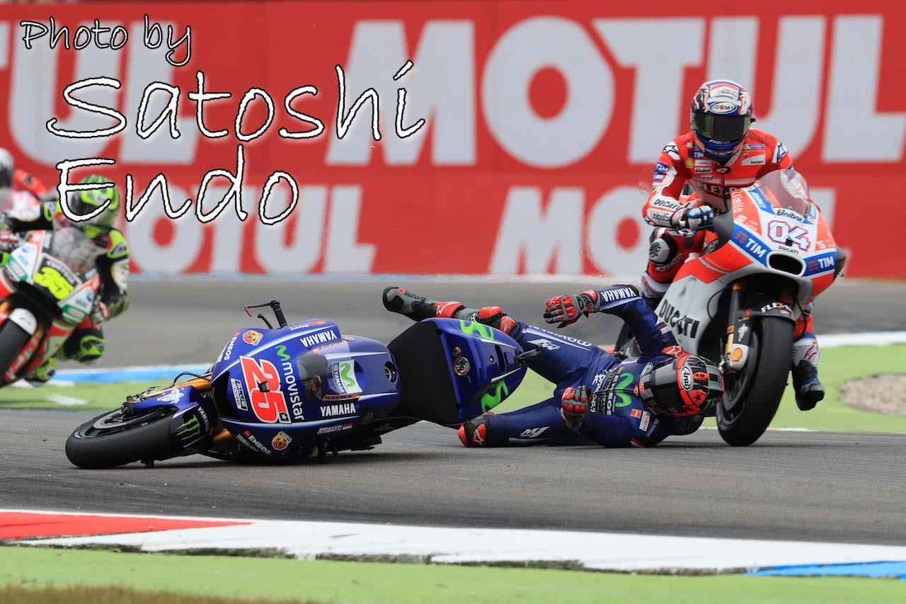モタスポブログ   MotoGP現地トピックス:ビニャーレス転倒でヒヤリ。ロッシがオランダGP通算10勝目を達成