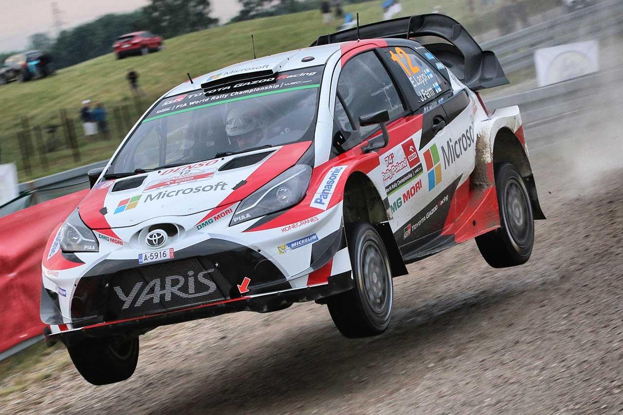 WRCポーランド:エバンスがSS1最速。トヨタのラッピはエンジンに違和感「嫌な匂いがする」