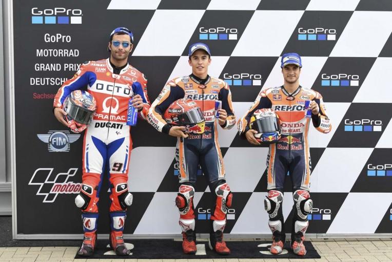 MotoGP | MotoGP:マルケス、終盤には本当に「プッシュした」/ドイツGP予選トップ3コメント