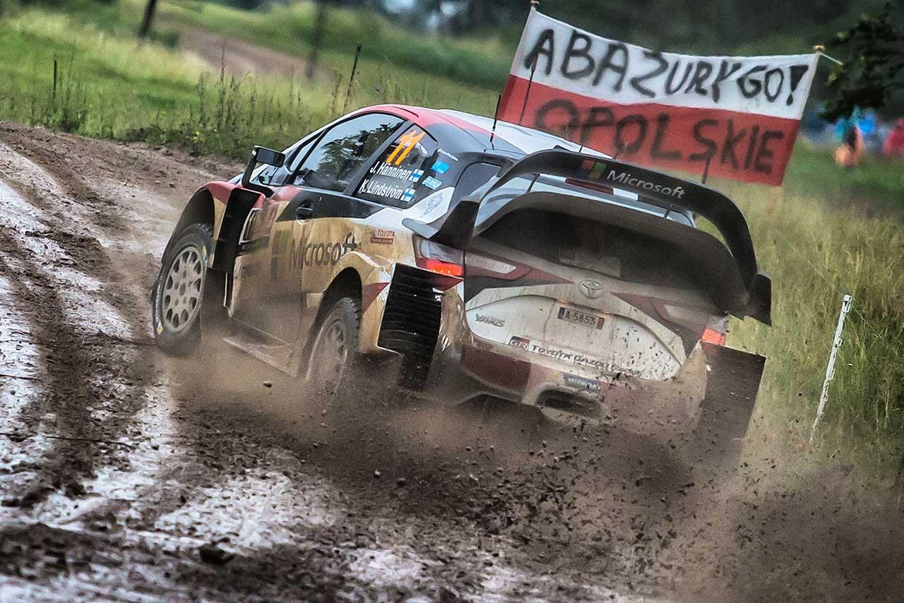 WRC:トヨタ、タフなポーランド戦で総合10位。ハンニネン「挑戦しがいのある週末だった」