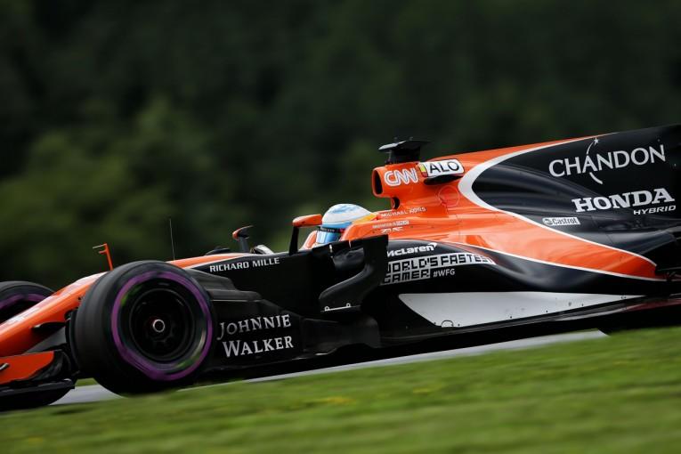 """F1   アロンソのF1パワーユニットにトラブル。旧仕様の""""スペック2""""に戻す"""