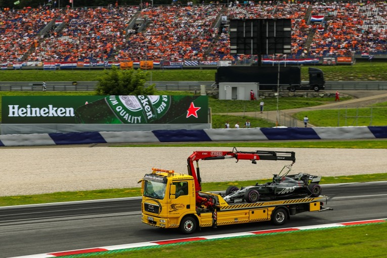F1 | グロージャン、予選Q3中にコース上でストップも「決勝は出場可能」とハースF1
