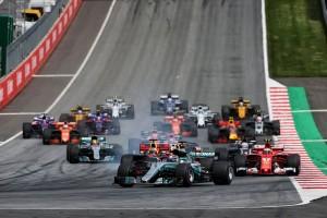 2017年F1第9戦オーストリアGP 決勝レーススタート